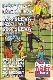 kids and family discounts at Prague Thrift Store